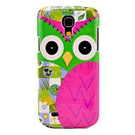 Sarjakuva Owl Pattern Hard Takakansi Case for Samsung Galaxy S4 Mini I9190