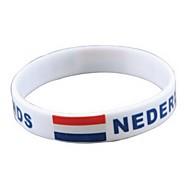 Motif Drapeau Pays-Bas Coupe du monde 2014 Silicone Wrist Band