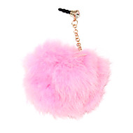Rabbit Fur Ball 3.5 MM Anti-dust Earphone Jack for iPhone and iPad