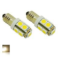 E10 2W 9X5050 SMD 3000K Warm White Lights LED Light Bulb for Diy (DC 12V , 2-Pack)
