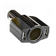 Car Cigarette Lighter Dual USB 5V porta caricatore per iPhone iPad HTC Samsung