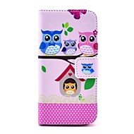 COCO FUN ® Lovely Owl Familie Mønster PU skinn Full Body sak med skjermbeskyttelse, Stylus og stativ for iPhone 5C