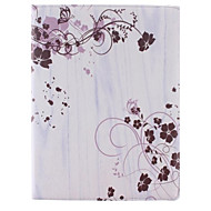 Small Rattan Flower Design 360 Degree Rotating PU Leather Case with Stand for iPad 2/3/4