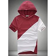 Men's Round Collar HoodieShort Sleeve T-shirt