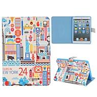 Cartoon Paiting Of New York Case for iPad mini 3, iPad mini 2, iPad mini
