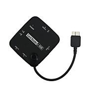 Micro USB 3.0 Card Reader OTG USB HUB SDHC MS TF M2 for Samsung Galaxy Note3 and Lenovo Thinkpad 8