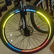YELVQI bicicleta de la bici etiquetas engomadas reflexivas