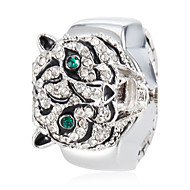 Women's Crystal Tiger Style Alloy Quartz Ring Watch (Assorted Colors)