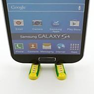 Brazil  Football Team National Flag Shoes Shaped Stand Bracket Dustproof Plug for Samsung S3 S4 S5