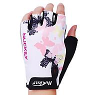 nuckily sykling hansker finger polyester og spandex terrengsykkel utendørs sport halvparten finger hansker n3558
