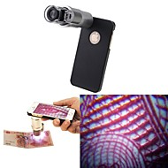 200x microscopio dello zoom lente di ingrandimento con led Lampada uv e posteriore Case for iPhone 6