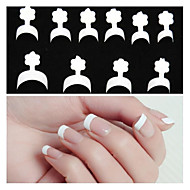 10x10PCS Mixs Size White Smile Nail Art French Tips