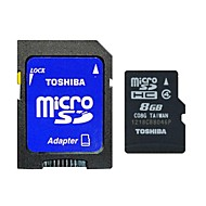 Toshiba 8GB Clase 4 MicroSD/MicroSDHC/MicroSDXC/TF / SD/SDHC/SDXC / Adaptadores y cajasMax Read Speed4 (MB/S)Max Write Speed4 (MB/S)