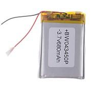 3.7V 680mAh Lithium Polymer batteri til mobiltelefoner mp3 mp4 (4 * 34 * 50)