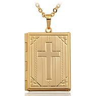 Žene Ogrlice s privjeskom Medaljonima Ogrlice Cross Shape Kamen Pozlaćeni 18K zlato Moda kostim nakit Jewelry Za Vjenčanje
