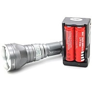 LT-QS04 Magnetic Switch 5 Mode 1xCree XML T6 Diving Led Flashlight(1000LM.1x18650.Gray)