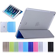 Solid Color Silk Print Case with Stand for iPad Air(Assorted Colors)