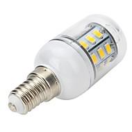 4W E14 LED Spotlight / LED Globe Bulbs / LED Corn Lights T 27 SMD 5730 300-400 lm Warm White AC 220-240 V