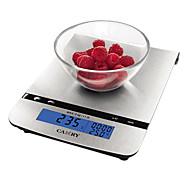 lcd balança de cozinha electrónica com placa plana de aço inoxidável