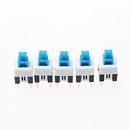 7 x 7mm selbsthemmend Schalter - blau + weiß + schwarz (20 Stück-Packung)