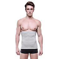 Men Body Shaper Tummy Slimming Belt High Waist Burn Fat Underwear Body Sculpting Slim Abdomen Cinched Gray NY014