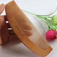 Natual 16x5cm Curve Back Comb Design Peach Wooden Comb
