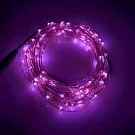 xinyuanyang® 6w 100-0603 SMD LED lyserød lys streng lys - sølv + sort (DC 12V / 1000cm)
