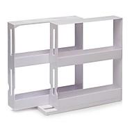 "N More Cabinet Organizer Sliding Space Saver Spice 2 Racks ,Plastic 8""X8""X4"""