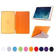 Natusun™ Removable Multi-Fold PU Leather Smart Cover Thin Translucent Hard Plastic Shell for  iPad Air/iPad 5