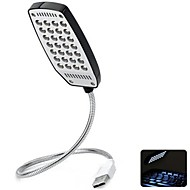 360 Degree Angle Adjustable Super Bright USB Powered Mini LED Night Light (Black)