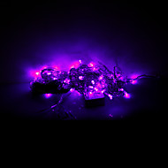 3x0.6x0.4M 100 LEDs Christmas Halloween decorative lights festive strip lights-Icicle light purple (220V)