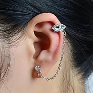 Χειροπέδες Ear Κράμα Στρας απομίμηση διαμαντιών Κοσμήματα Γάμου Πάρτι Καθημερινά Causal Αθλητικά