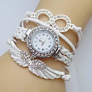 Women's Watch Crystal Wing Infinity Leather Weave Band Cool Watches Unique Watches Fashion Watch