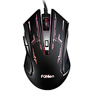 Fuhlen G60 Gaming Luminous Multicor Wired USB Mouse 1600 DPI