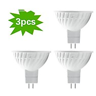 3 pcs H+LUX™ GU5.3 5 W 12 SMD 5730 350 LM Warm White MR16 Dimmable/Decorative Spot Lights DC 12/AC 12 V