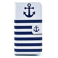 Varten iPhone 5 kotelo Lomapkko / Korttikotelo / Tuella / Flip / Kuvio Etui Kokonaan peittävä Etui Ankkuri Kova TekonahkaiPhone 7 Plus /