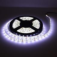 vanntett 5m 300x5050 SMD hvite LED strip lampe med kabel dimmer sett (12v)