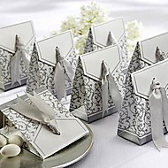 Favor Box With Silver Ribbon (Set of 12)