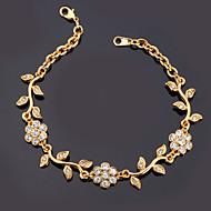 Damen Ketten- & Glieder-Armbänder Armband Imitation Diamant Modisch Strass Platiert vergoldet Imitation Diamant Aleación Golden Schmuck