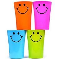 multi-função sorriso rosto copo plástico escova de dentes 360ml (cor aleatória)