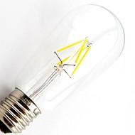 Lampade LED a incandescenza 4 COB ON T E26/E27 4.5 W Intensità regolabile / Decorativo 400 LM Bianco caldo AC 220-240 V