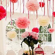 8 tommers papir blomst party dekorasjoner - sett med 4 (flere farger)