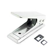 Standard-SIM-zu-SIM-Karte Punch Cutter mit zwei Mikro zu Nano-Adapter für iPhone nano 5s 5 5c ipad mini