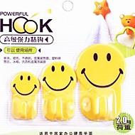 3 PCS Multifunctional Smile Lovely Family Hook(Random Color)