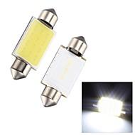 Merdia Festoon 2W COB 6000K 110LM 39MM 12SMD LED Cool White Light for Car License Plate Light / Reading Lamp - (2 PCS)