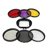 링 어댑터와 GOPRO hero3에 대한 6 개 58mm 필터 설정 자외선 CPL ND4 FLD 렌즈