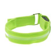 녹색 LED 빛을 화면 팔 밴드 스트랩 완장 (2xcr2032)