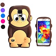 3D Design Cartoon Monkey Pattern Silicone Soft Case for Samsung S5 I9600(Assorted Colors)