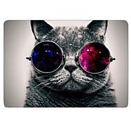 """diseño fresco del gato de cuerpo completo caja de plástico de protección para 13 """"/ 15"""" macbook-pro con pantalla retina"""