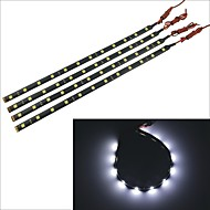 carking ™ 5050-12smd-30 centímetros carro à prova d'água lâmpada decorativa strip-preto (4pcs)